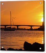 Sunset At Sarasota Bayfront Park Acrylic Print