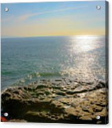 Sunset At Sea Santa Cruz Ca Acrylic Print