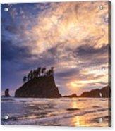 Sunset At Second Beach Acrylic Print