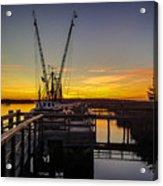 Sunset At Skippers Fish Camp Acrylic Print