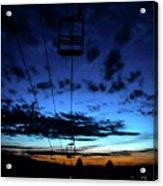 Sunset At Smugglers' Notch, Vermont - Portrait Acrylic Print
