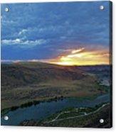 Sunset At Snake River Canyon 1 Acrylic Print