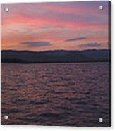 Sunset At Squam Lake New Hampshire Acrylic Print