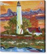 Sunset At St. Mark's Lighthouse Acrylic Print