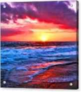 Sunset At Strands Beach Acrylic Print