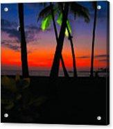 Sunset At The Big Island Of Hawaii Acrylic Print