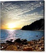 Sunset At The Black Sea Coast. Crimea Acrylic Print