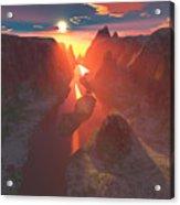 Sunset At The Canyon Acrylic Print
