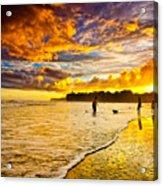 Sunset At The Coast Acrylic Print