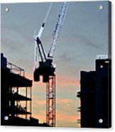 Sunset At The Construction Site 3  Acrylic Print