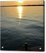 Sunset At The Dock  Acrylic Print