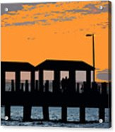 Sunset At The Fishing Pier Acrylic Print