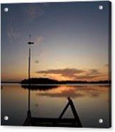 Sunset At The Gulf Of Bothnia  Acrylic Print