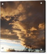Sunset At The New Mexico State Capital Acrylic Print