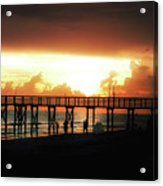 Sunset At The Pier Acrylic Print
