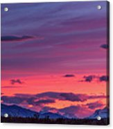 Sunset At The Ranch #2 - Patagonia Acrylic Print