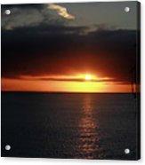 Sunset At The Santa Cruz Wharf Acrylic Print