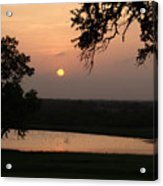 Sunset At The Southern Star Ranch Acrylic Print