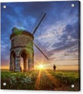 Sunset At The Windmill Acrylic Print