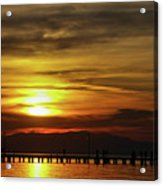 Sunset At Thessaloniki Acrylic Print