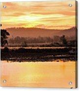Sunset At Triabunna Tasmania Acrylic Print