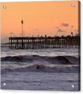 Sunset At Ventura Pier Acrylic Print
