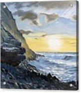 Sunset At Warren Point Duckpool Acrylic Print