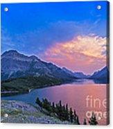 Sunset At Waterton Lakes National Park Acrylic Print