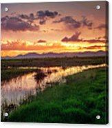 Sunset At Whitewater Draw Acrylic Print