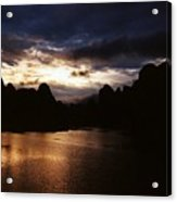 Sunset At Yangshuo In China Acrylic Print