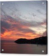 Sunset At Zihautanejo Acrylic Print