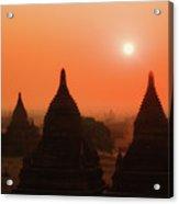Sunset Bagan Acrylic Print