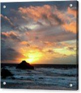 Sunset Bandon By The Sea Acrylic Print