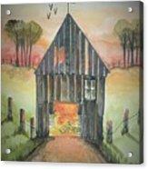 Sunset Barn  Acrylic Print