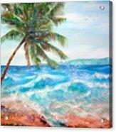 Sunset Beach Hawaii Acrylic Print