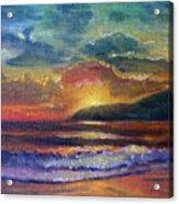 Sunset Beach Acrylic Print by Linda Pope