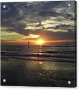Sunset Beauty At Clearwater Acrylic Print