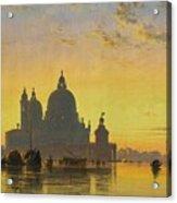Sunset Behind The Church Of Santa Maria Della Salute Acrylic Print