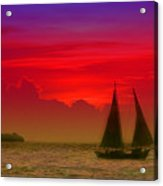 Sunset Behind The Clouds Acrylic Print