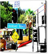 Sunset Blvd Acrylic Print