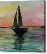 Sunset Boat 1 Acrylic Print
