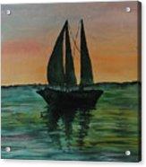 Sunset Boat 2 Acrylic Print