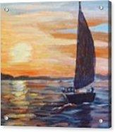 Sunset Boat Acrylic Print
