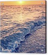 Sunset Bowman Beach Sanibel Island Florida Vintage Acrylic Print