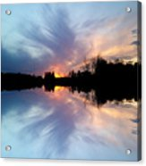 Sunset Brushstrokes Acrylic Print