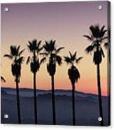 Sunset By La Acrylic Print