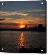 Sunset By The Inlet Acrylic Print