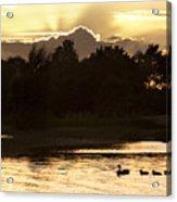 Sunset By The Lake Acrylic Print