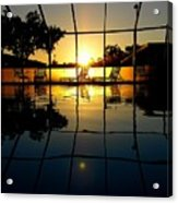 Sunset By The Pool Acrylic Print