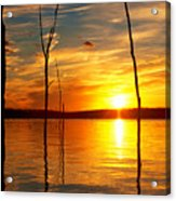 Sunset By The Water Acrylic Print